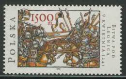 Poland Polska Polen 1991 Mi 3318 ** Battle Of Legnica - Miniature Schlackenwerth Codex (1350) /Schlacht Liegnitz - Andere