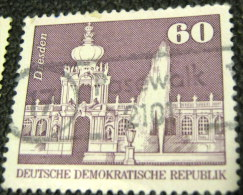 Germany 1974 Dresden 60pf Large- Used - DDR