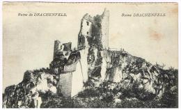 I609 Ruine Drachenfels - Chateau Castle Castello Schloss Castillo / Non Viaggiata - Drachenfels