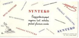 Bv002 - Buvard - SYNTEKO - L'ange Gardien Du Parquet - Buvards, Protège-cahiers Illustrés
