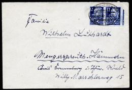 A2218) SBZ Brief Von Leipzig 22.9.1950 Mit Verzähnung Der Mi.216 (2) - Sowjetische Zone (SBZ)