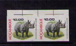 Fauna Faune Animals Animaux Mammifères White Rhinoceros Rhinocéros 1976 Mozambique Proofs 2x Epreuves #9399 - Rhinozerosse