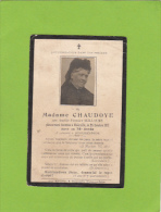 AVIS DE DECES - Madame CHAUDOYE  Née WILLAUME Décédée 25 Octobre 1912 à WOINVILLE Et Entérée à SOMMEDIEUE - Obituary Notices