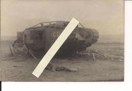 Somme Flandres Flandern Cambrai Tank Anglais Détruit Carte Photo Allemande Poilus 1914-1918 14-18 Ww1 WWI 1.wk - War, Military