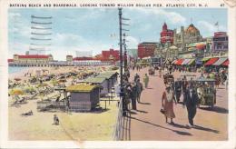 MW/   Atlantic City New Jersey Boardwalk And Beach 1936 Go-carts - Atlantic City