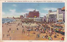 MW/   Atlantic City New Jersey Convention Hall, Beach Hotels 1930s - Atlantic City