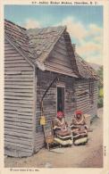 MW/ 1920s Cherokee Basket Makers (Chief Standing Deer's Wife And Daughter) NC - Indiens De L'Amerique Du Nord