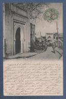 MAROC - CP ANIMEE TANGER - PUERTA DE LA LEGACION ALEMANA N° 2 - S. S. OTERO TANGER MARRUECOS - CIRCULEE EN 1908 - Tanger