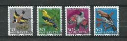 1969 Switzerland Complete Set Birds,oiseaux Used/gebruikt/oblitere - Pro Juventute
