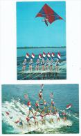 Etats-Unis- FL FLORIDA CYPRESS GARDENS Lot,ensemble De 2 Cartes (ski Nautique Water Ski Deltplane Delta)(Winter Haven) - Etats-Unis