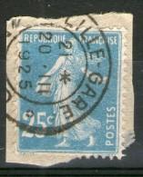 N°140° Type IV_GARE De LILLE-1925_sur Fragment - Marcophily (detached Stamps)