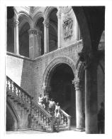 Original Foto CROATIA - RAGUSA - DUBROVNIK Pred Dvorom - Personen Innenhof Rektoren Palast  - 1920er Jahre   11 X 8 Cm - Plaatsen