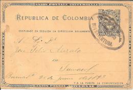 Col081/ Ovalstempel 1898 Auf Ganzsache, Buenaventura - Kolumbien