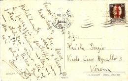 RSI-CENT.30 FASCETTI SU CARD VIAGGIATA 1944 - 4. 1944-45 Repubblica Sociale