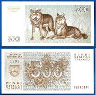 Lituanie 500 Talonas 1993 Neuf UNC Animal Loup Litai Cent Centas Litas Lithuania Skrill Paypal Bitcoin OK - Lituanie
