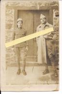 Poilus Français Et Italien Carte Photo Française Poilus 1914-1918 14-18 Ww1 WWI 1.wk - War, Military