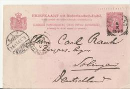 =NL INDIE  GS 1893 NACH DE SOILINGEN - Nederlands-Indië