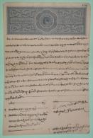 INDE Edward VII  Acte Notarié Papier Timbré 4 Annas Hindi 1901 1910 - Manuscripts