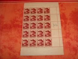 N° 495 En Bloc De 20 Timbres Neuf** - Full Sheets