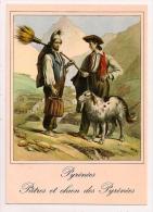 Les Pyrénées Aux XIXe Siècle - Pâtres Et Chien Des Pyrénées - Pâtres Aux Cabanes De Tramzaigues (Pingret 1834) - France