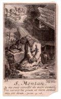 Santino Nuovo SAN MONTANO - Ristampa Tipografica Da Santino Antico - PERFETTO F41 - Religione & Esoterismo