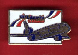 30194-Pin's.Avion.Aviatio N.Air Liberté.minerve. - Aerei