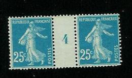 FRANCE TYPE SEMEUSE N° 140 */**  MILLESIME 4 DE 1924 TYPE III PAPIER D - Millesimes