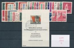 DDR Jahrgang 1956 Gestempelt Kpl. Mi. 80,- - DDR