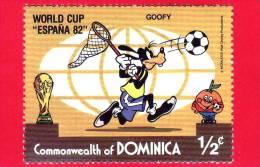 Commonwealth Of DOMINICA - 1982 - Coppa Del Mondo Di Calcio - World Cup Football - Soccer - Espana 82 - Disney - 1/2 - Dominica (1978-...)