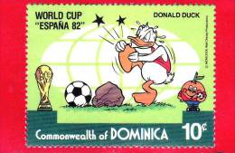 Commonwealth Of DOMINICA - 1982 - Coppa Del Mondo Di Calcio - World Cup Football - Soccer - Espana 82 - Disney - 10 - Dominica (1978-...)