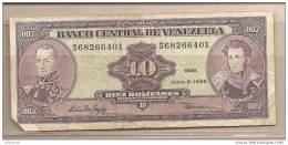 Venezuela - Banconota Circolata Da 10 Bolivares - 1995 - Venezuela