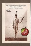 CARTE CHOCOLAT POULAIN  LES CERISETTES  TRES BON ETAT  VOIR SCAN - Publicité