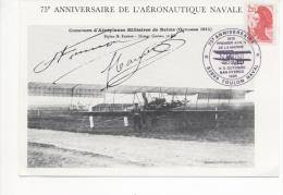 75ème ANNIVERSAIRE De L´AERONAUTIQUE NAVALE - TOULON NAVAL 4 Et 5 Octobre 1985 - Postmark Collection (Covers)