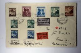 Böhmen Und Mahren Cover, 1941 Praha Potrubni Postou, Pneumatic Post, Rohrpost, Express