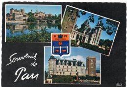 CP, 64, PAU, Souvenirs, Multivues, Voyagé En 1961 - Pau