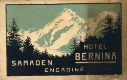 HOTEL BERNINA – SAMADEN – ENGADINE - Werbung