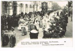 """""""Lebbeke - Luisterrijke Jubelfeesten - De Processie - Groep Der Zeven Weëen Van OLVrouw"""" - Lebbeke"""