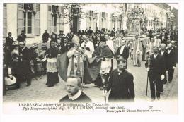 """""""Lebbeke - Luisterrijke Jubelfeesten - De Processie - Zijn Hoogweerdighied Mgr. Stillemans, Bisschop Van Gent"""" - Lebbeke"""