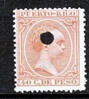 Puerto Rico  129    (o)  Telegraph Punch. - Puerto Rico