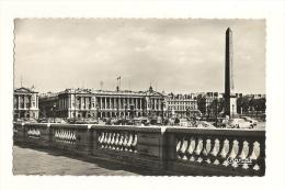 Cp, 75, Paris, Place De La Concorde, L'Obélisque Et Le Ministère De La Marine, écrite - Frankreich