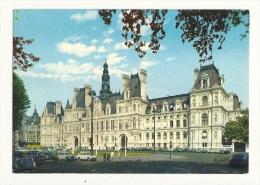 Cp, 75, Paris, L'Hôtel De Ville Et Sa Place - Unclassified