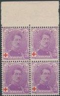 N° 131a, 20c+20c Violet Type II, Bloc De 4, Fraîcheur Postale Et Bdf - 1914-1915 Red Cross