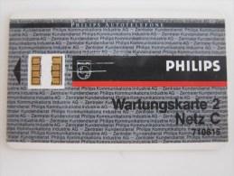 Philips Autotelefone Test Card,Wartungskarte 2,code: 710815 - Deutschland