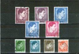 1947 - Roi Michele Mi No 1028/1035 Et Yv No 938/946 - 1918-1948 Ferdinand, Charles II & Michael