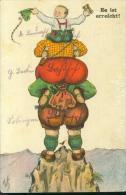 Motiv Bergsteiger 29.11.1930 Kind Mit Fernglas Menschen-Pyramide W S + S B 167 - Künstlerkarten