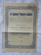 RARE. - .PART SOCIALE -  LE LOGEMENT POPULAIRE AMELIORE - Old Paper