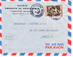 MADAGASCAR : 1958 - Lettre Commerciale Par Avion Pour La France - Madagascar (1960-...)