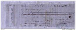 LOIRE - CHAMBON - FEUGEROLLES - CIE FORGES & ACIERIES - J. CLAUDINON & CIE - MANDAT POUR Mr DOURIS DE THIERS - 1861 - Lettres De Change