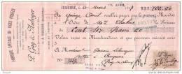 PUY DE DOME - ISSOIRE - FABRIQUE SPECIALE TIGES PIQUEES - PEAUSSERIE - PIERRE GAY &  AUBOYER - MANDAT + ENVELOPPE - 1907 - Lettres De Change