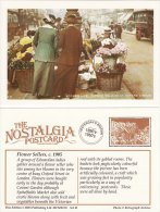 Postcard Flower Seller Oxford Circus London C1905 Edwardian Nostalgia Repro - Trade